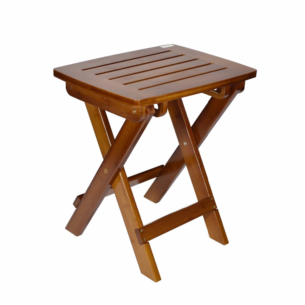 cyanbamboo folding stool home furniture portable toilet wooden stool foot folding stool for picnic fishing stools ottoman