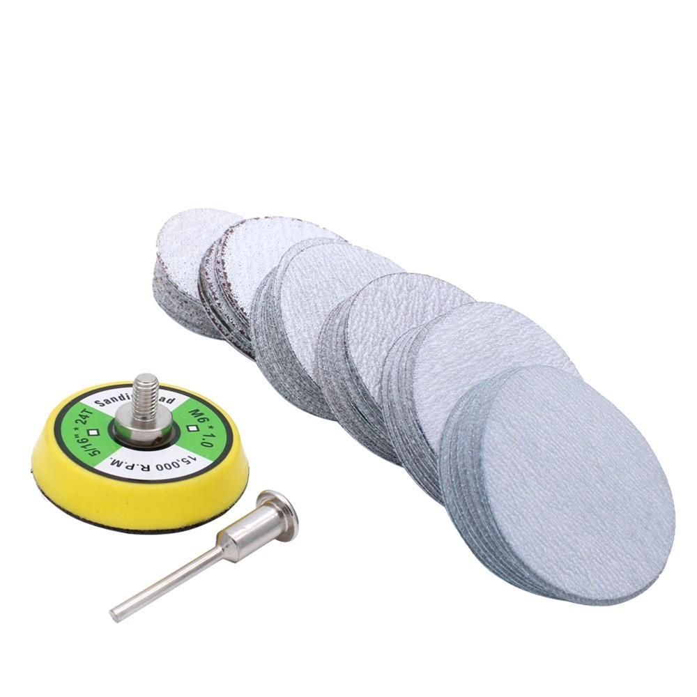 80-600 Mixed Grit 2 Inch Sander Disc Sanding Disk Sand Paper With 50mm Polish Pad Plate For Dremel 3000 Abrasive Tools
