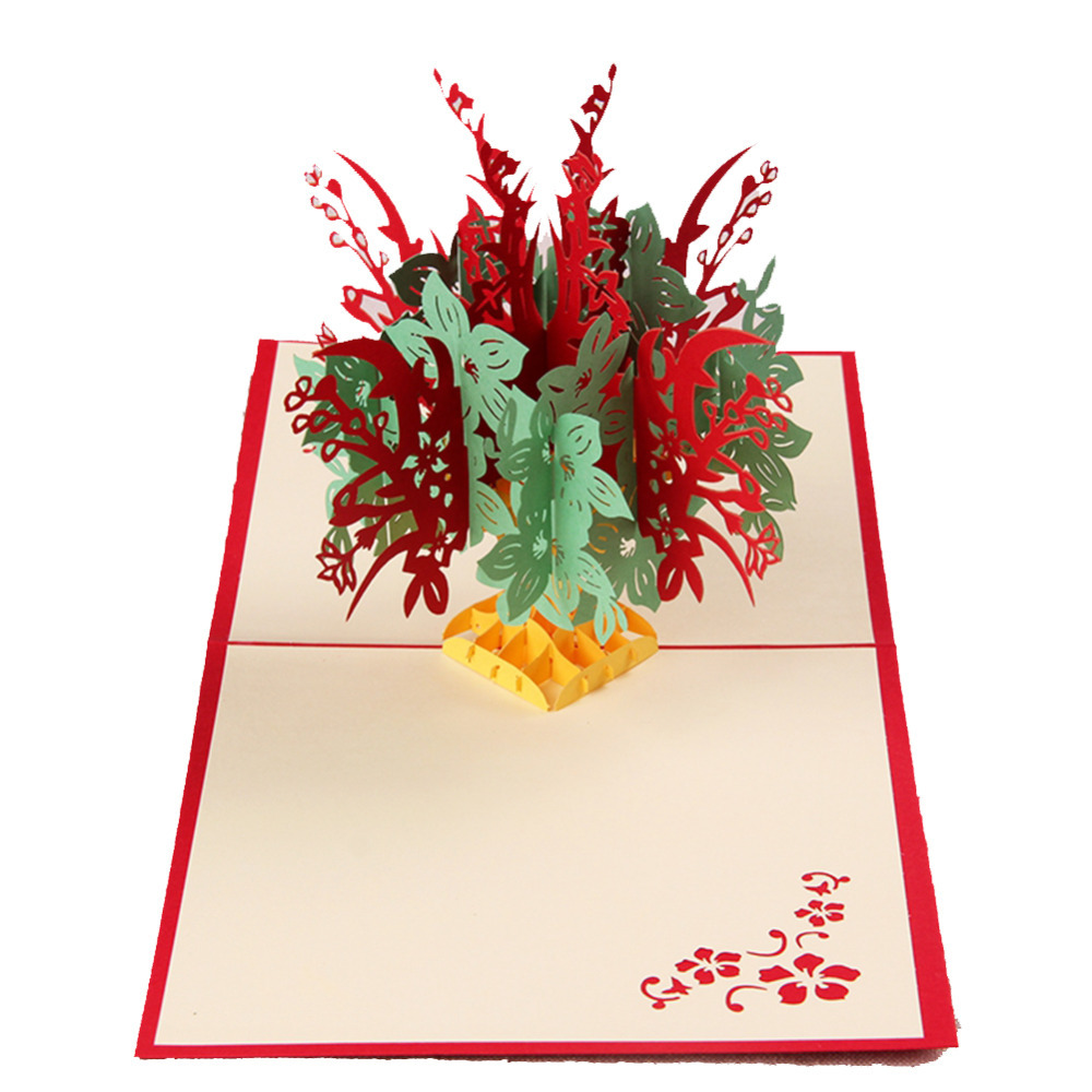 Fantastic Flower Handmade Kirigami Origami 3d Pop Up Greeting
