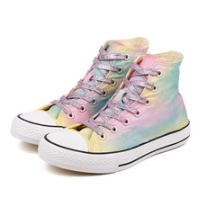 купить Shoes Women New Canvas Shoes Hand-Painted High-Top Sneakers Women Comfortable Casual Shoes Student Platform Flat по цене 1754.23 рублей