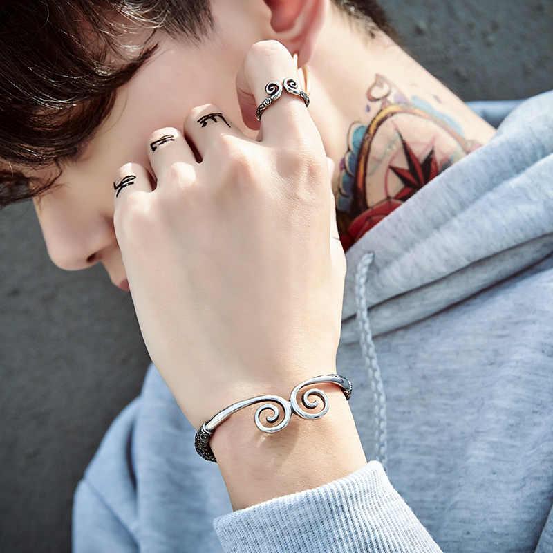 Байер Модные украшения заклинание золотой обруч для мужчин и женщин браслет BRG-006