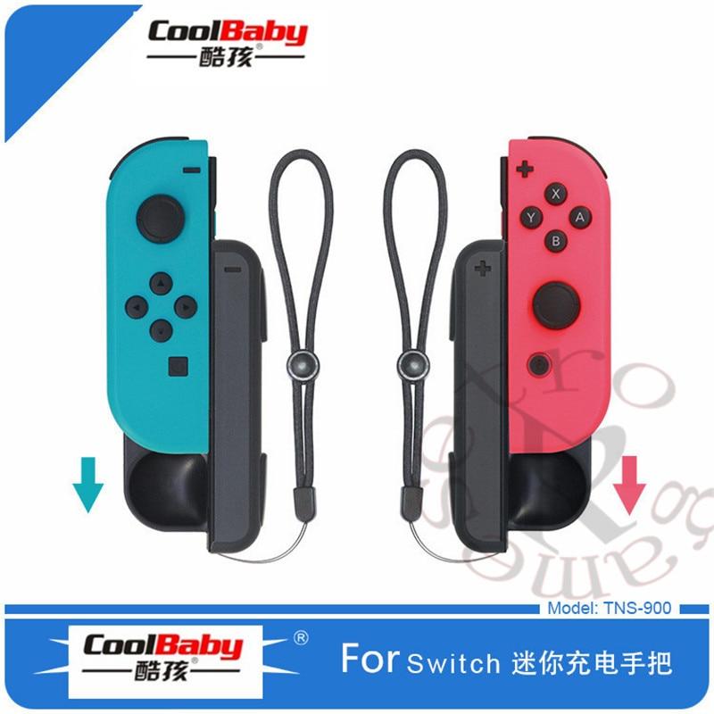 Портативный мини-контроллер с ручкой, износостойкое зарядное устройство Joy-Con с 2 USB-кабелями для зарядки для Switch Joy-con
