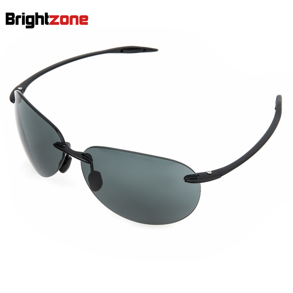 Full New Pattern Trend Fashion Rimless Sun Glasses Resist Fatigue Defence Glare Sunglasses Nylon Explosion-proof Lens Sun-shade
