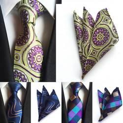 SKng Новый Для мужчин s Галстуки Галстук Пейсли носовой платок наборы Для Мужчин's Jacquare Woven 100% шелковые галстуки ручной работы комплект мода