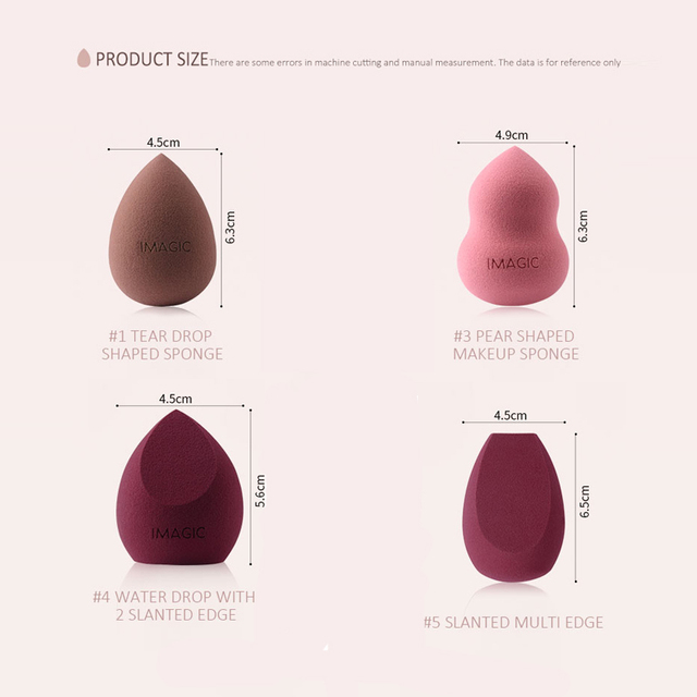 Makeup Cosmetic Puff Foundation Powder Blend Sponge Smooth Professional Women Make Up Sponge Puff Multi Shape Bigger in Water 3