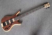 Rosewood Veneer Top Long Neck Through body 4 string Bass Guitar Guitarra All Color Available