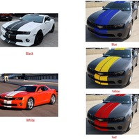 Optional Color Decal Stripe Body Kit For Chevrolet Camaro Mondeo Mustang Ford SS Hood Wing Mirror Headlight #275635