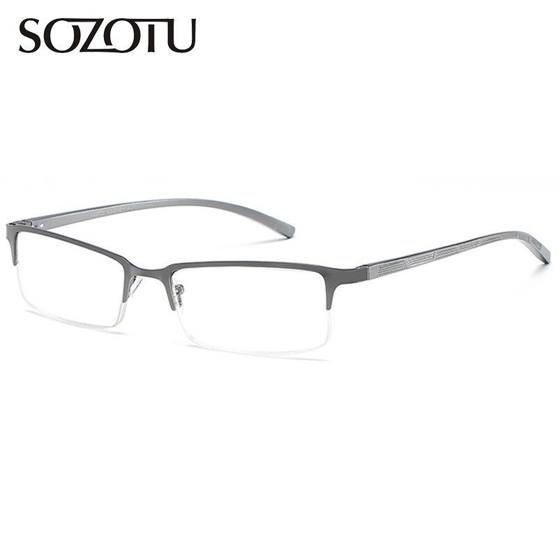 SOZOTU Reading Glasses Men Presbyopic Prescription Diopter Eyeglasses Male Degree Eyewear +1.0+1.5+2.0+2.5+3.0+3.5+4.00 YQ518
