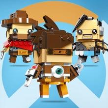 Tracer Overwatching Hanzo Mccree Dva Figura de Ação Brinquedos Figuras Blocos Jogo Caráter Figurinhas Toy Presente Para O Menino Dos Homens