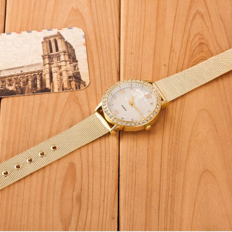 Watches Men's Watches 2019 New Women Waterproof Crystal Roman Numerals Gold Mesh Band Wrist Wach Casual Ladies Classy Dress Watch Relogio Feminino#77