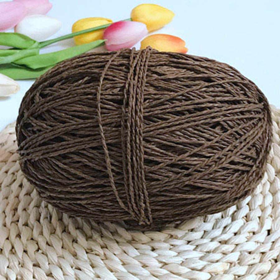 100g/ball Bast Garn Kintting Papier Stroh Garn für Häkeln Hut Phantasie Garn Blume Verpackung Sommer Mode Handmade material