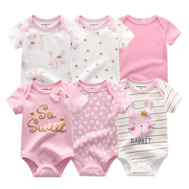 2020最新6ピース/ロット女の赤ちゃん服roupaデbebes男の子服ユニコーンベビー衣料品セットロンパース新生児綿0 12m