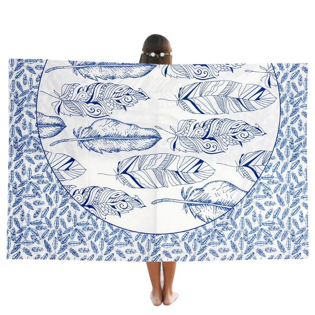 Hot New Beach Pool Home Shower Towel Blanket Table Cloth Yoga Mat Round Table Cloth Yoga Mat ng0