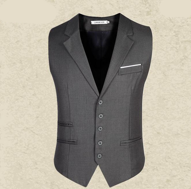 2016 новое поступление мужчины жилет мужская встроенная досуг жилет свободного покроя бизнес куртка топы костюм жилет
