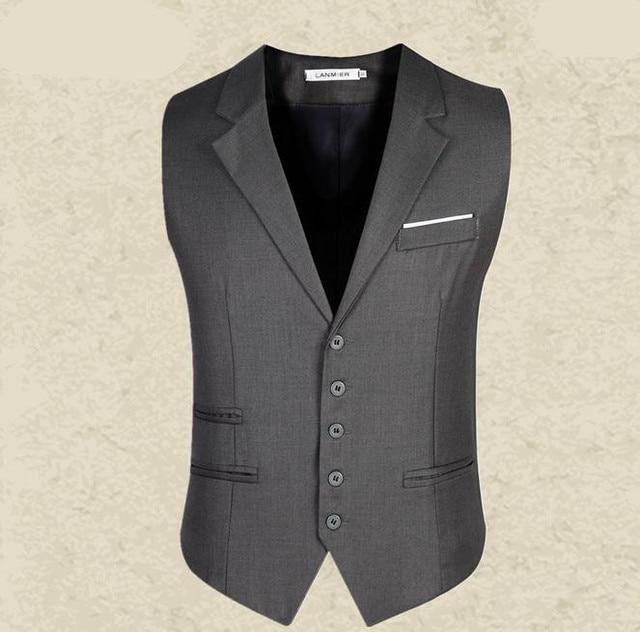 2016 nuevos hombres de la llegada del chaleco de hombre equipada ocio chaleco chaqueta Casual de negocios Tops chaleco del juego