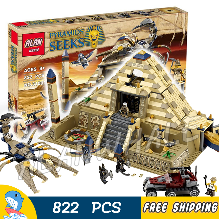 822pcs Pharaoh's Quest Scorpion Pyramid Desert 31001 Model Building Blocks Children Assemble Toys Bricks Compatible With lego цены онлайн