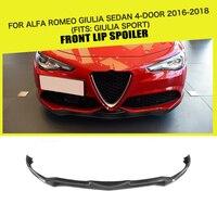 Carbon Fiber / FRP Car Front Bumper Lip Spoiler Splitters for Alfa Romeo Giulia Sport 2016 2017 2018