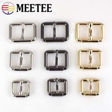 Meetee 10pcs 20/25/32/38MM Pin Belt Buckles Metal Handbags Bags Hardware Strap Adjust Hook DIY Sew Crafts AccessoryF3-22