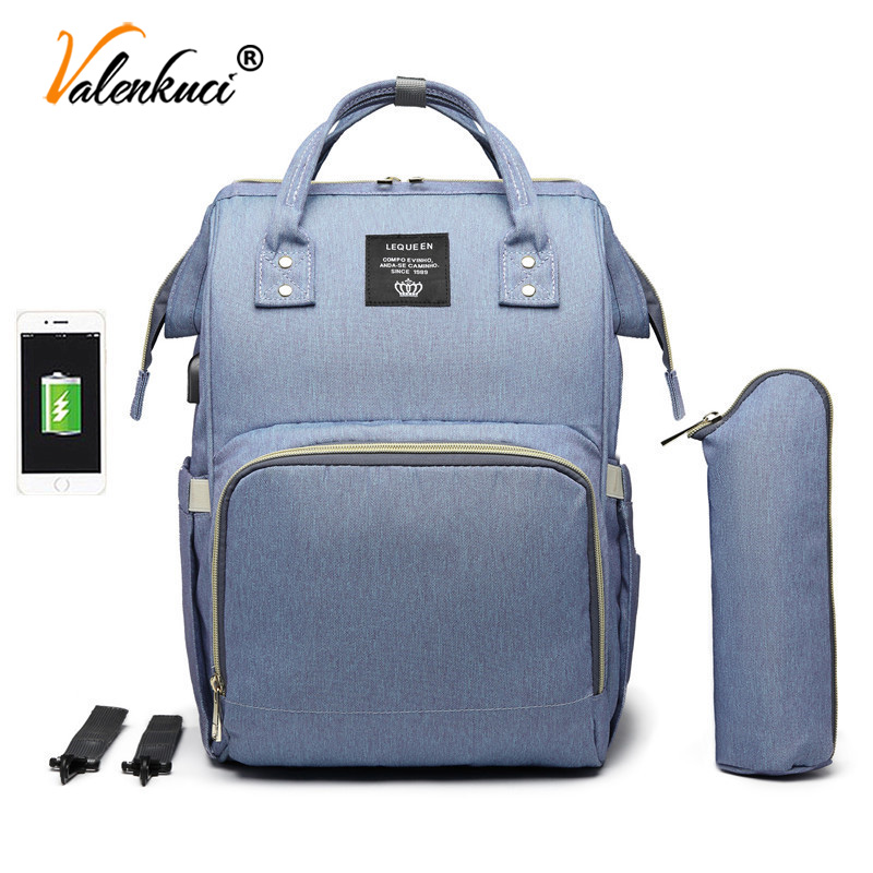 Female Backpacks Women USB Backpack With Hooks Diaper Bags Multifunctional Nappy Bags Baby Care Travel Backpack Mochila Feminina