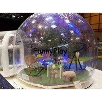 Gonflable bulle pelouse tente, gonflable bulle camping tentes, salon en plein air et événement tentes avec support, gonflable tente de l'armée