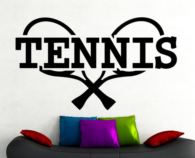 Tennis sports stickers home gym bedroom decoration wall decals childrens room decoration removable vinyl wall art