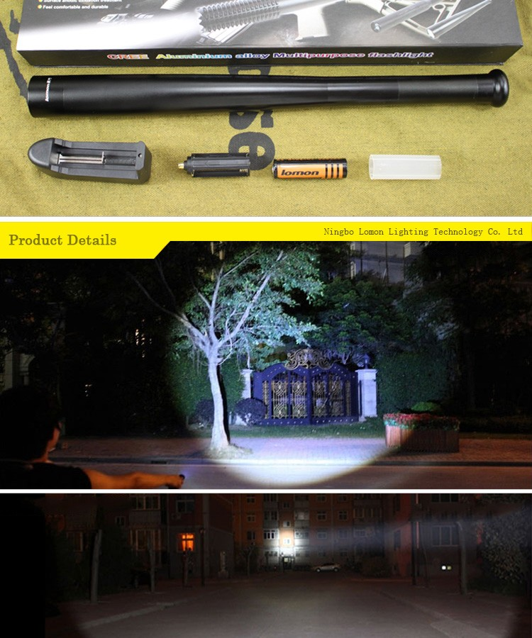 Lomon-5w-Strong-Light-Aluminum-Alloy-Wholesale-Rechargeable-Self-defense-Flashlight_02