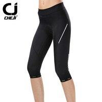 Cheji Womens Cycling Pants Mountain Bike Bicycle Shorts 3D Gel Padded Breathable Mtb Riding Cycling Pants