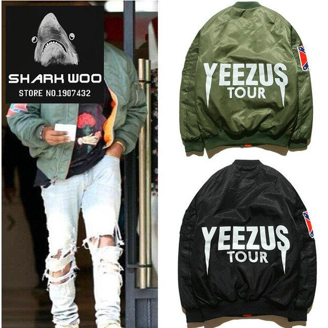 c233f5acf US $71.87  bape MA1 Bomber Flight jacket KANYE WEST YEEZUS tour jackets  limit edition yeezy young mens hip hop streetwear Warm winter coats-in  Jackets ...