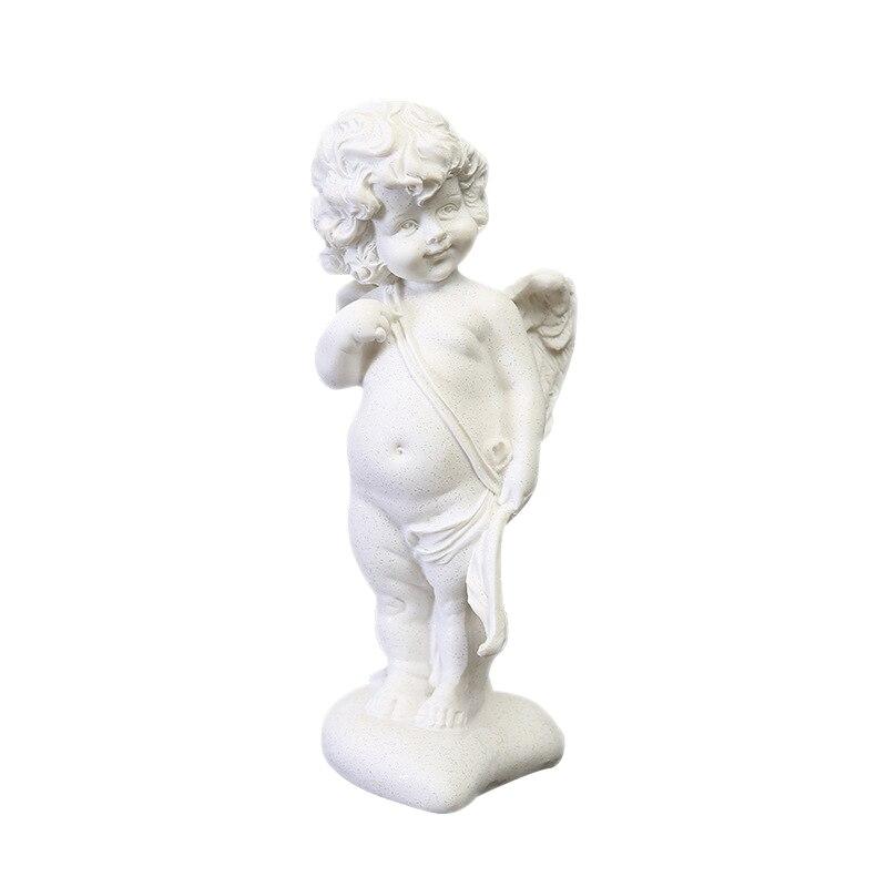 Resin Love White Modern Art Sculpture Sand Small Angel God Sandstone Decoration Fashion Desktop Creative Ornament Craft