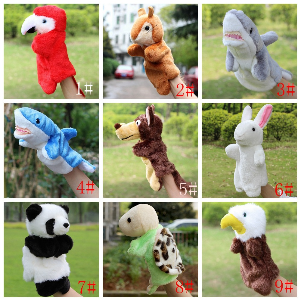 Animal Hand Puppet Plush Toys Peluche Dolls Wolf Eagle Panda Rabbit Doll Kids Glove Puppets For Children Gift unlocked zte ufi mf970 lte pocket 300mbps 4g dongle mobile hotspot 4g cat6 mobile wifi router pk mf910 mf95 mf971 mf910
