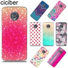 ciciber Background Pattern For Motorola Moto G6 G5 G5S E5 E4 C Z2 Z3 ONE P30 G4 Plus Play Power M X4 Soft TPU Phone Case Coque