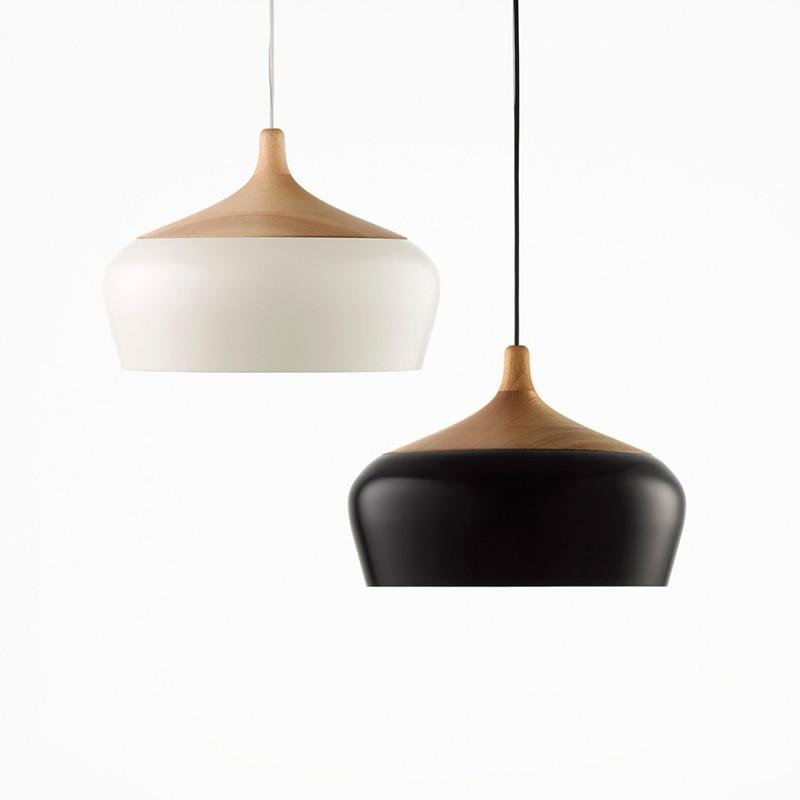 Modern pendant light Oak Wood lamp E27 socket wood lampholder Hanging light white black Optionally 300mm / 350mmModern pendant light Oak Wood lamp E27 socket wood lampholder Hanging light white black Optionally 300mm / 350mm