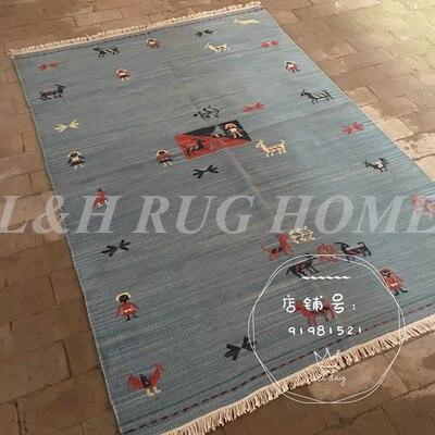 Livraison gratuite 950x1550mm tissé à la main kilim Design tapis noués à la main en laine tapis style turc kilim laine tapis