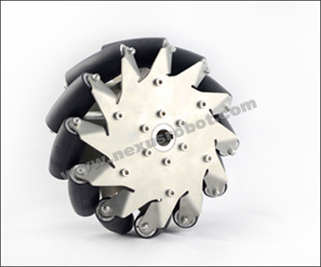 203mm Heavy Duty Mecanum Wheel Left With Rubber Rollers 14150 a set of heavy duty mecanum wheel with imported material pu roller 14169