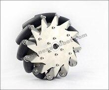 203 мм для тяжелых условий эксплуатации mecanum колесо слева с резиновыми ролики 14150