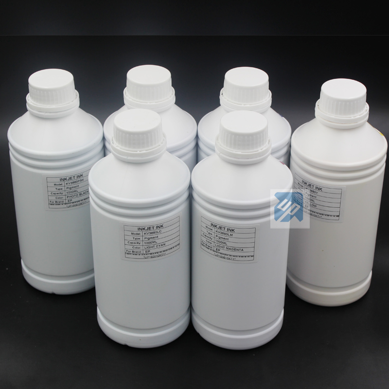Computer & Office Obedient 6 X 1l High Quality Pigment Ink For Epson 1390 R1400 1400 1410 1500w 1430 T50 T60 P50 A50 6colors Printer Reasonable Price