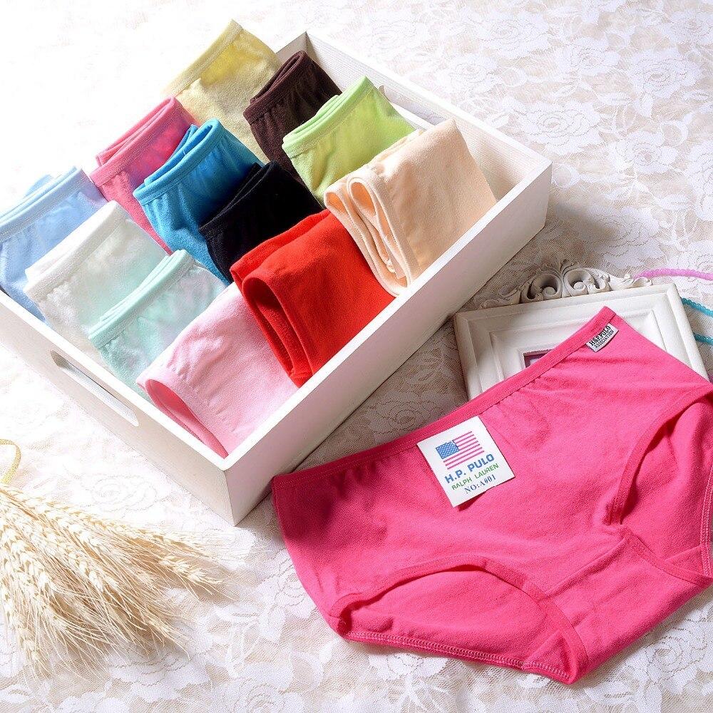 AQ07 Najnovejše bombonske barve Sladke bombažne spodnje hlačke Spodnje perilo Ženske spodnje hlače spodnje hlače Spodnje perilo Ženske XL