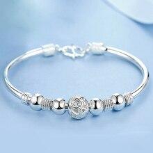 3 стильные новые браслеты из стерлингового серебра 925 пробы, браслеты на запястье для женщин, модные ювелирные изделия Pulseira