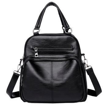 Backpack Women Pu Leather Female Backpacks Teenager School Bags Mochila Feminina Rucksack Mochilas Mujer gift Одежда