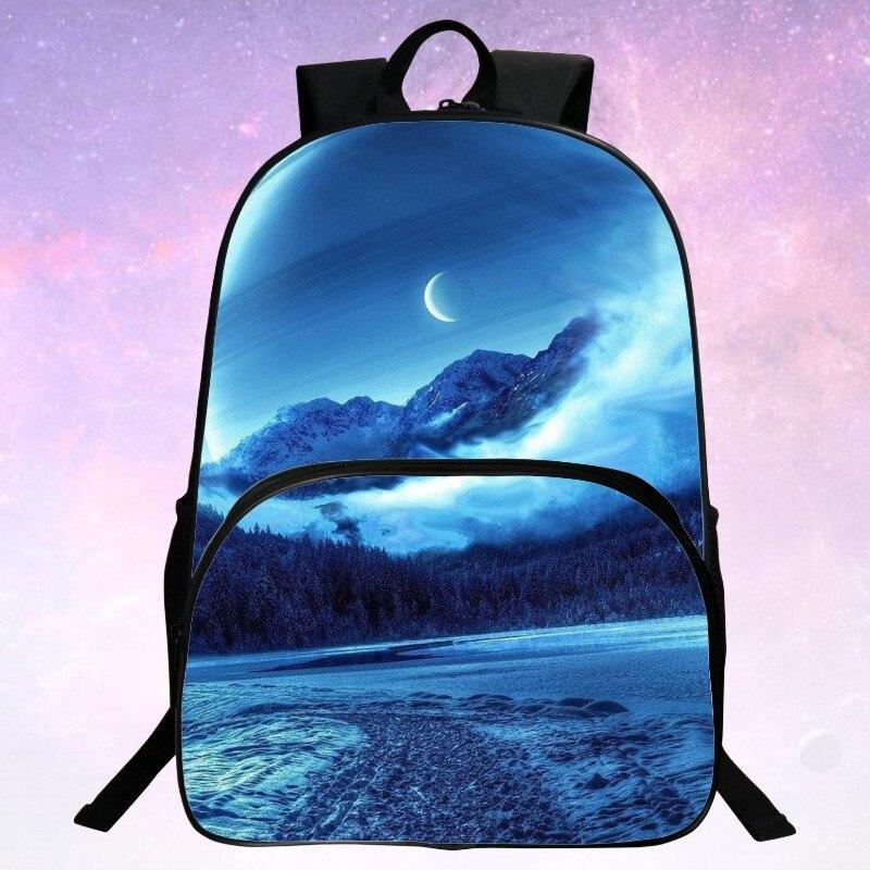 2017 Suyuer JZ Cartoon Galaxy Print School Backpack For Teeanger Girls School Bags Schoolbags Kids Children