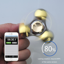 Fidget Spinner Hand Spinner High Speed R188 Bearing Titanium Alloy Toys Anxiety Stress Adults Kid Metal finger spinners