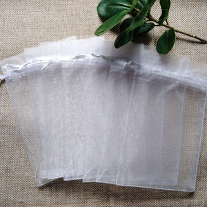 Image 3 - 11sizes 1000pcs 7x9 9x12 10x15cm White Organza Bags Jewelry Gift Packaging Drawstring Bags Apply to Wedding/Birthday/Christmas