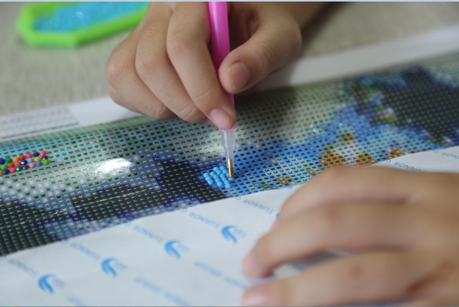 Penuh Bor Melingkar 5D DIY Diamond Lukisan Street Diamond Bordir Hujan Gambar dari Berlian Imitasi Dekorasi Rumah