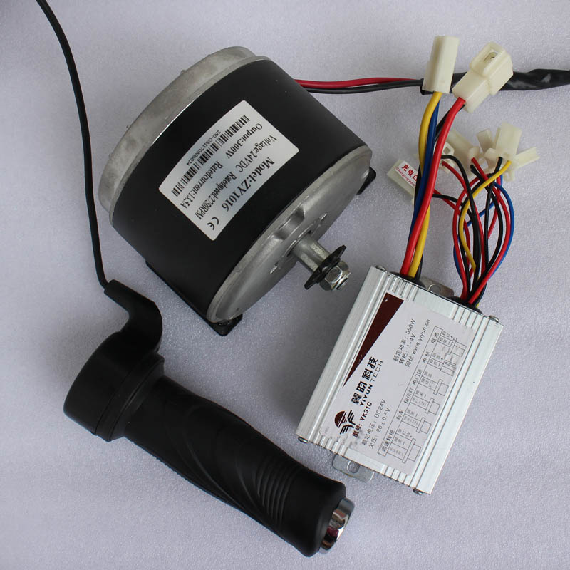 DIY electric scooter bicycle kit 24V 300W 3300RPM DC motor brushed permanent magnet High torque CE 24v dc 250w electric scooter motor conversion kit my1016 250w brushed motor set for electric bike emoto skatebord bicycle kit