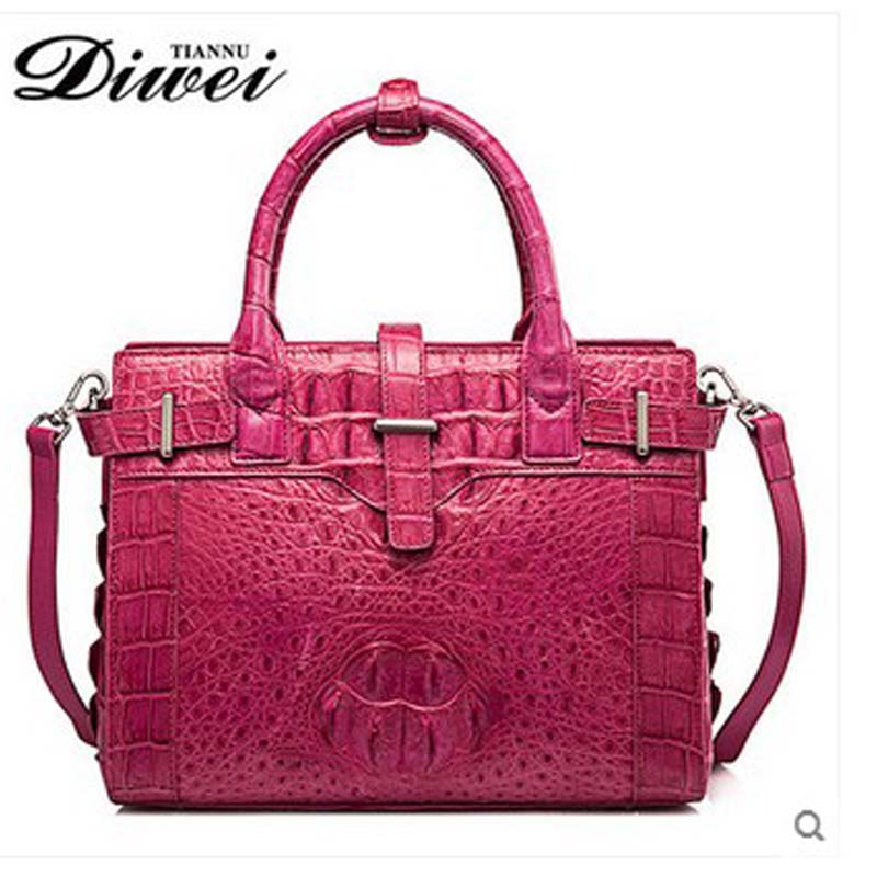 Diwei 2018 new hot free shipping real crocodile women handbag single shoulder inclined bag lady handbag women bag yuanyu 2018 new hot free shipping real thai crocodile women handbag female bag lady one shoulder women bag female bag