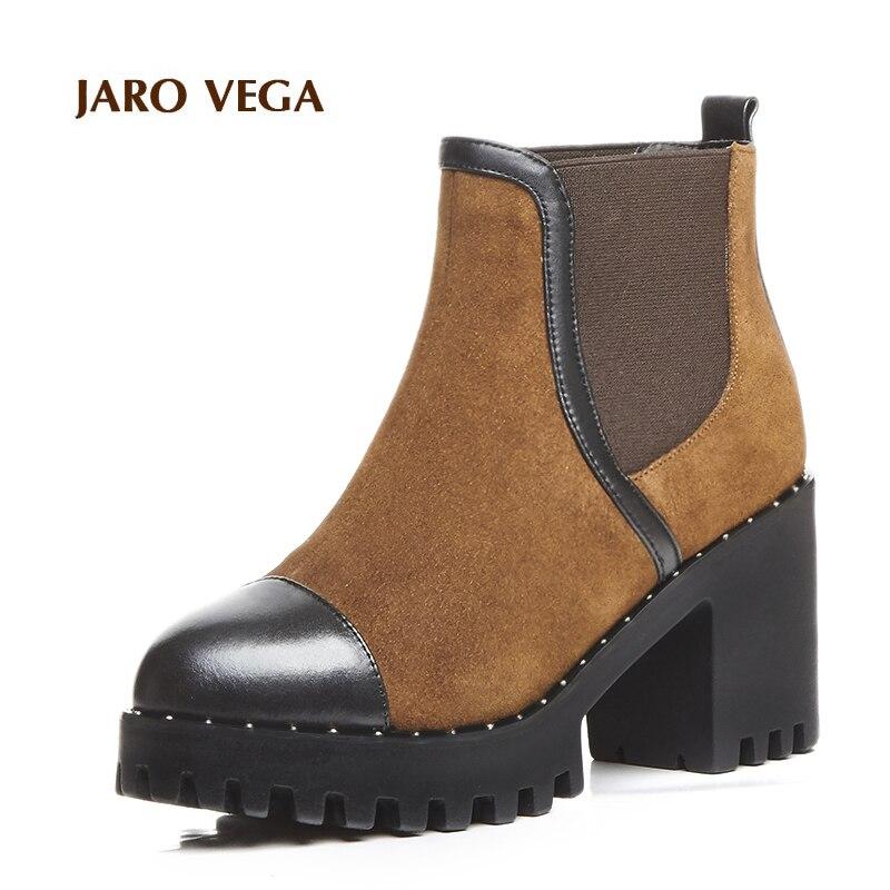 все цены на  Jaro Vega Women's Platform Chunky Heel  Boots Booties  в интернете