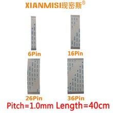 FFC/FPC плоский гибкий ленточный кабель 6Pin 16Pin 26Pin 36Pin та же Сторона 1,0 мм Шаг AWM VW-1 20624 20798 80C 60 в длина 40 см 5 шт