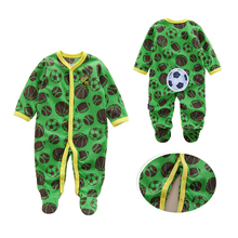 4195da80beae 0-12M Autumn Fleece Baby Rompers Cute Pink Baby Girl Boy Clothing Infant  Baby Girl Clothes Jumpsuits Footed Coverall