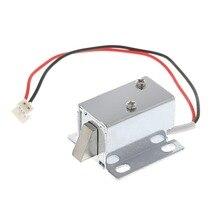 Controle de acesso solenóide eletrônico 12v 0.4a, fechadura eletrônica, montagem de liberação, 10166