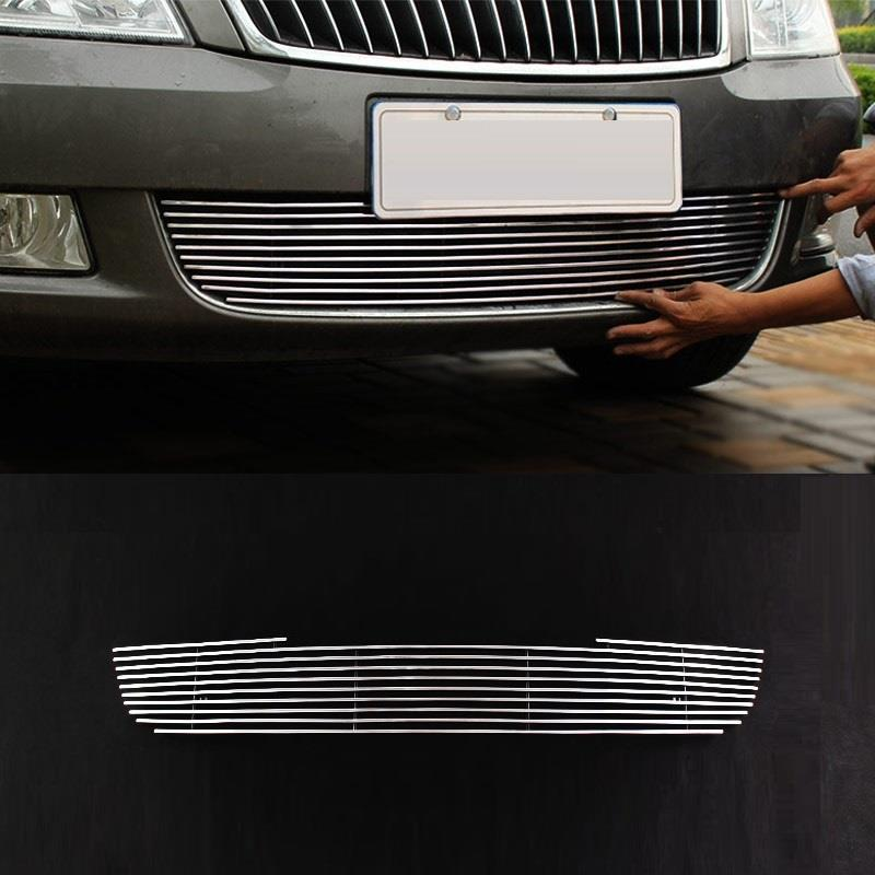 Grille automobile decorative car styling bright sequins covers protecter accessories 10 11 12 13 14 FOR Skoda Octavia automobile car styling accessories chromium 2014 17 modified bumper grille trim strip grid decorative bright for toyota vios